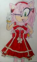 Amy Rose lolita style by Spikinette