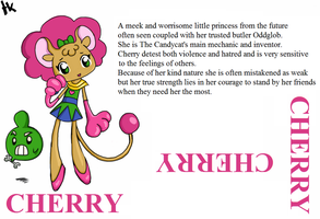 Candycat Character Bios: Cherry. . .and OddGlob by MuNafusa