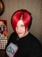 me with my red and black by LilyLondon9