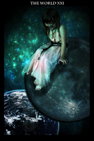 The World Tarot Card XXI by Tyrantx