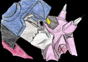 Prime and Elita by Scream01