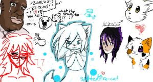 iScribble doodles:. new OC :3 by Spottedfire-cat
