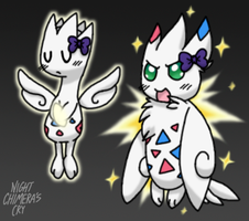 Treble has evolved into Togekiss! by Night-Chimeras-Cry
