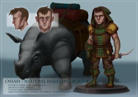 Character Creation - Neutral Halfling Rogue by Pencil-Fluke