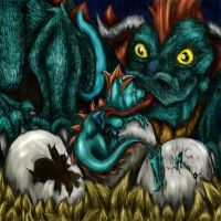 Dragon Nest by The-ShadowCat by All-Crazy-Reptiles