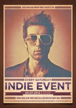 Indie Event Flyer/Poster PSD Template by moodboy