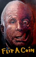 McCain as Two Face flip a coin by Liveloveart-LA