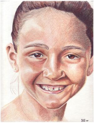 Colored pencil drawing entitled Sophia