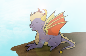 Spyro is enjoying dat breeze by KylexLacy