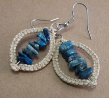 Convex-Macrame Earrings by elpdee20