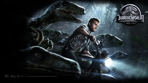 Primer Wallpaper Latino de JURASSIC WORLD (2015). by DWOWForce