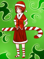 christmas candy cane by DrunkOnTea