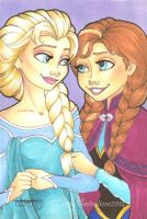 SC: Elsa and Anna by TLSeely