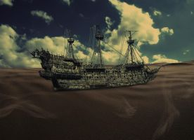 A Shipwreck in the Sand by SlashRiot