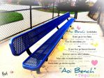 Aoi Bench - Blue Bench by mebemyself247