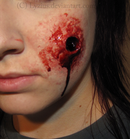 Bullet Wound Prosthetic by PlaceboFX