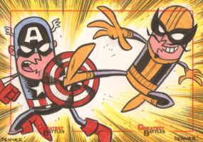 MGB: Captain America vs. Batroc the Leaper by thecheckeredman