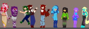 .:My character cast:. by Kathy-the-echidna