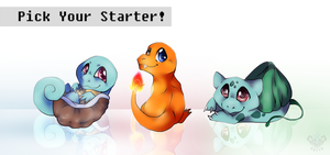 Pick Your Starter! by Anttu-chan