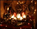 Yule Altar by ReanDeanna