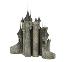 3d Fantasy Castle Stock Parts #33 side kingdom by madetobeunique
