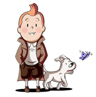 :: Collab: Tintin and Snowy :: by Tigerman-exe