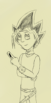 Yugi Quick Sketch by ashe-the-hedgehog