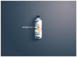 SAVE WATER.SAVE LIFE. by Ceruleano