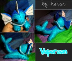 Mini Vaporeon Plushie by SmileAndLead