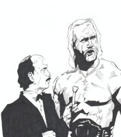 Mean Gene and Hogan by monstercola