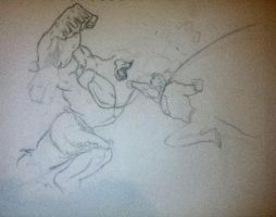 Superman VS Hulk WIP 2 by Conzibar