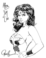 After Jim Lee - Wonder Woman by PauloDuqueFrade