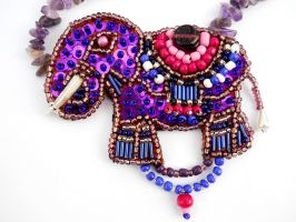 Indian elephant pendant by AniDandelion