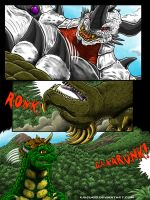 Attack On Monster Island Page 8, Commission by kaijukid