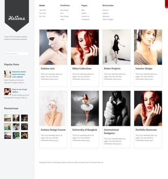 Helicious Grid Style WordPress by PremiumThemes