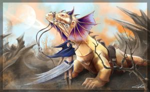dragon rider by CelineSIMONI