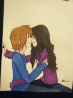.:Kiss Me:. -colored- by Chibi-Kibo