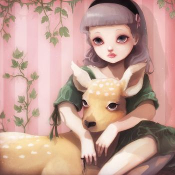 My dear lady deer by beyondthechuch