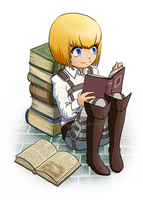 Bookworm Armin by MyFebronia