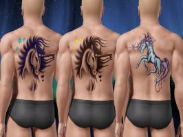 Unicorn Tattoo - Preview of Recolors by allison731