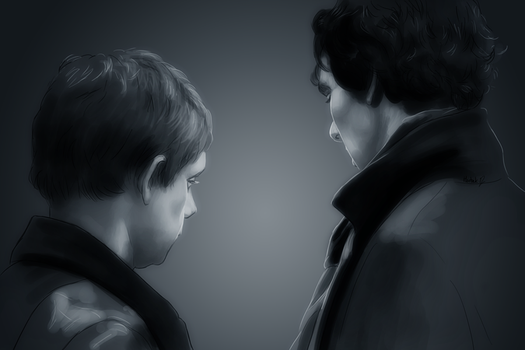 12 John and Sherlock by harbek