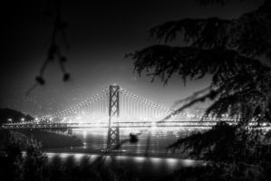 Golden Gate Bridge at Night by spudart