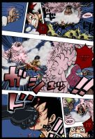 OP 745- Luffy confronts Doflamingo part 2 by Theahj90
