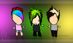 Band Chibis. by SparrowsNskittlez