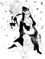 Midna - Line Art by MissAudi