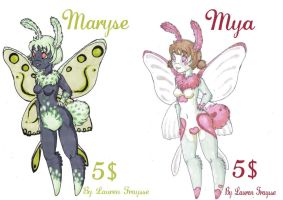 .: Furry Moth Adoptables :. by lfraysse