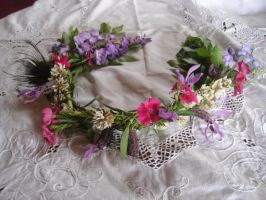 Flower garland 1B by GoblinStock