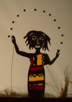 Dancing Woman shadow puppet by puppethaze