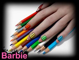 Colored Pencils Nails by BarbieNailArt