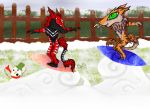 Contest Entry: Snow Surfing by Crystal-WolfDarkness